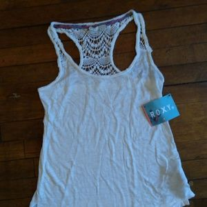Roxy Tops - NWT Roxy XS Racerback Tank With Lace B